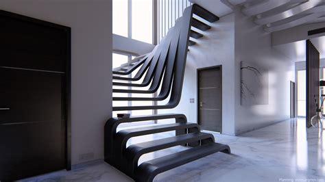 Moderne Häuser Innenausstattung by Moderne Treppe Planung Arqmov Visualisierung Und
