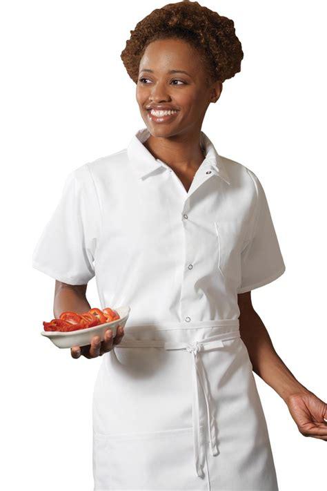 edwards short sleeve unisex cook shirts snap plackets