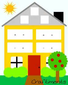 Free Printable Fact Family House Worksheet