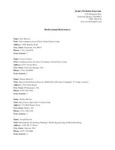reference titles for resume list of references n staccone