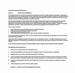 osha safety plan template - sample safety manual template 9 free documents in pdf