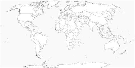 Carte Vierge Du Monde Avec Pays by Carte Du Monde Vierge Carte Du Monde