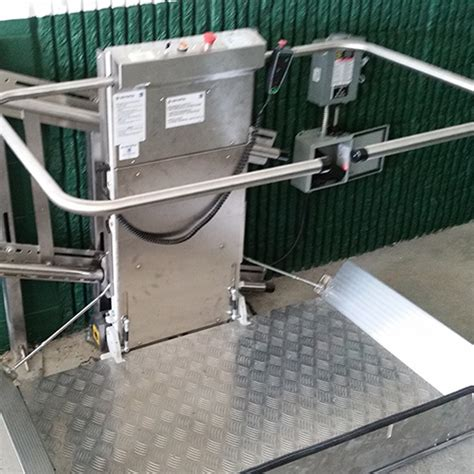 savaria commercial rail inclined wheelchair lift