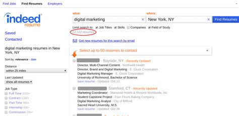 how to use indeed resume search to find the best