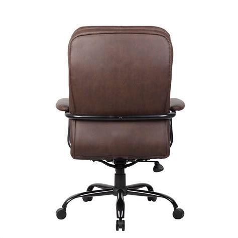 heavy duty office chair in bomber brown b991 bb