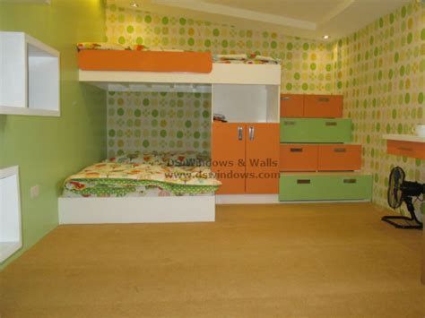 Patterned Wallpaper And Glittering Carpet For Attic Loft