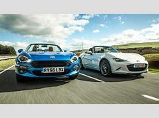 Twin test Fiat 124 Spider vs Mazda MX5 Top Gear