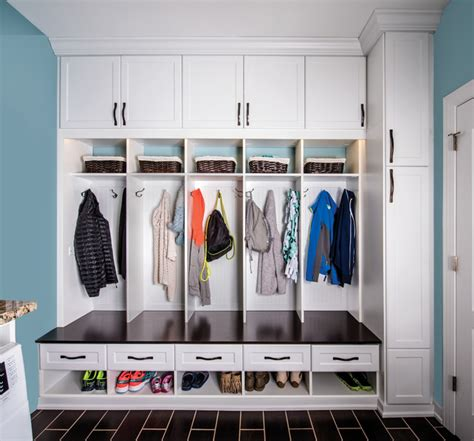 mud room organization system replaces traditional closet
