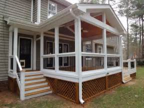 screen in porches decks screen porch with side entrance
