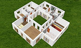 Bungalow Mit Innengarten by Atrium 182 33 Winkelbungalow Einfamilienhaus Neubau