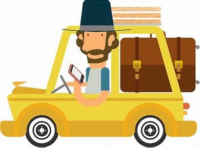Travel Clipart Cartoon Traveling Transparent Trip Journey