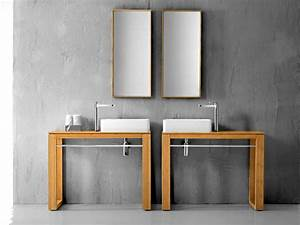 Tisch Für Aufsatzwaschbecken : untertisch f r aufsatzwaschbecken 100x46cm massivholz bambus sale ebay ~ Markanthonyermac.com Haus und Dekorationen