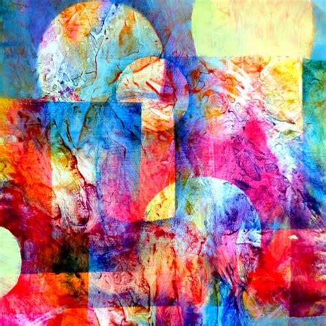 pochoir pour cuisine tableau abstrait mixed media en peinture acrylique