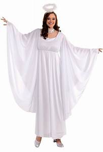 Women's Angel Costume With Bell Sleeves and Halo - Candy ...