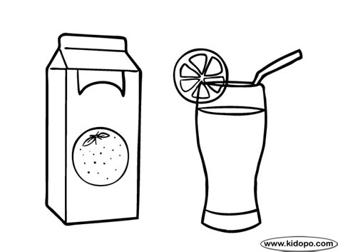 Coloring Juice by Orange Juice Coloring Page
