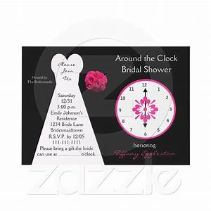 9 best around the clock shower invitations images on With around the clock wedding shower invitations