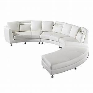 Wohnlandschaft Leder Günstig : ledersofa rundes sofa ledercouch couch aus leder in weiss rotunde wohnlandschaft ~ Frokenaadalensverden.com Haus und Dekorationen