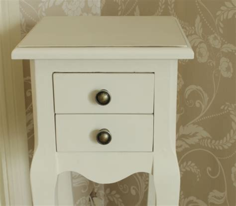 small cream  drawer bedside table melody maison