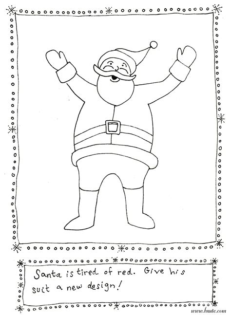 bnute productions more christmas printable art activities santa s outfit redesign and more