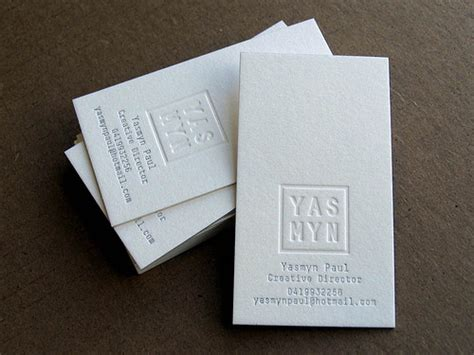 examples  letterpress business cards