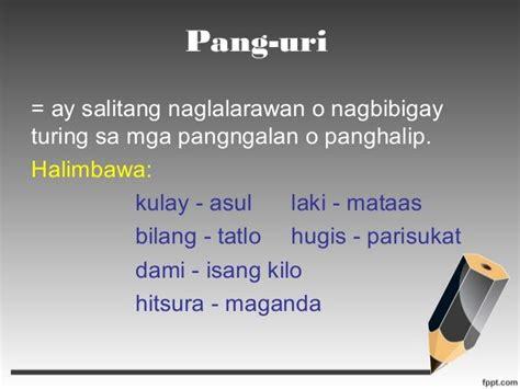 pang uri adjective adjectives adjective worksheet uri