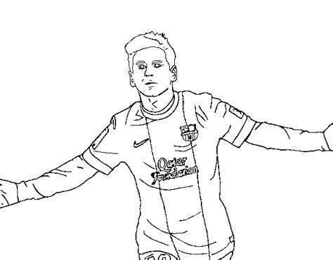Soccer Coloring Pages Messi - Sanfranciscolife