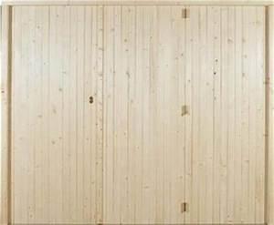 porte de garage 3 vantaux en bois sapin haut200m larg With porte garage bois 3 vantaux