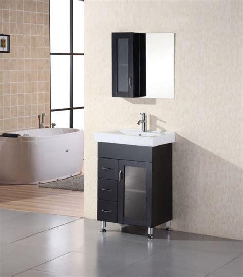 modern single sink bathroom vanity  ceramic sink