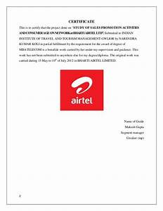 A training project report on airtel