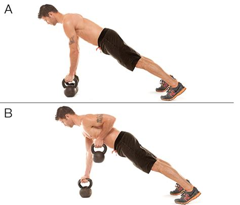 renegade row kettlebell morning workouts kb demonstration furthermore
