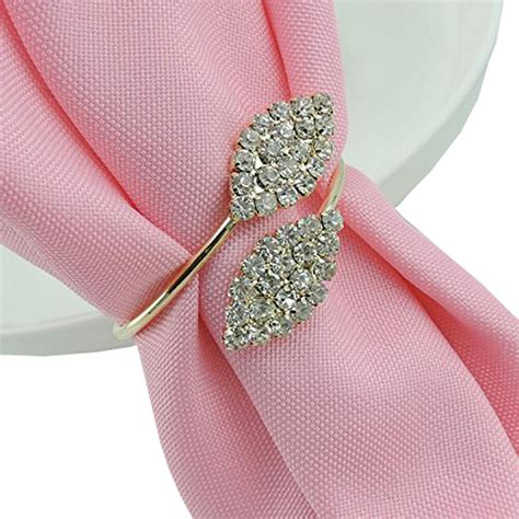 12pcs rhinestone napkin rings handmade serviette buckle holder wedding dinner ebay