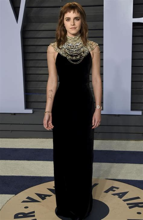 Oscars Emma Watson Red Carpet Tattoo Fail