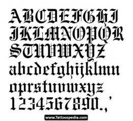 gangster tattoo lettering font