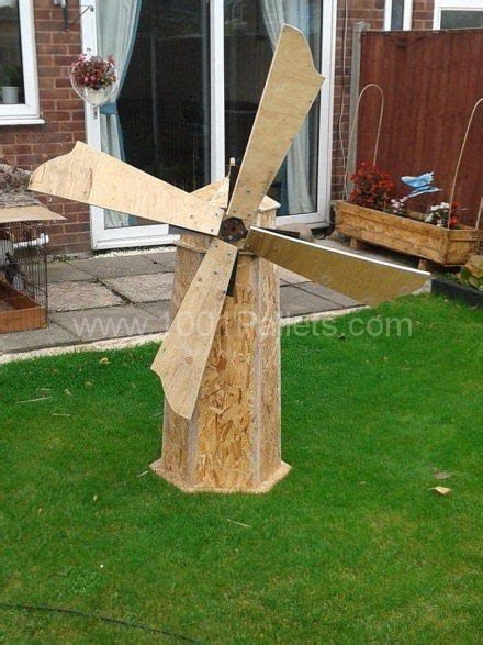 handmade windmill  recycled wood recycled wood