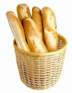 French Bread in Basket PNG Image - PngPix