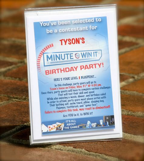 Additional minute to win it game ideas Bolling With 5: Tyson's 8th Birthday Party Invitation
