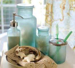 sea glass bathroom ideas blue glass bath accessories tropical bathroom accessories by pottery barn
