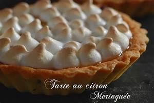 Recette Tarte Citron Meringuée Facile : tarte au citron meringu e facile recette de confit banane ~ Nature-et-papiers.com Idées de Décoration