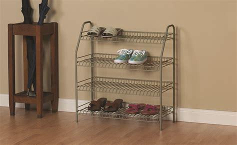 Closetmaid Shoe Rack - closetmaid shoe rack 4 tier nickel ebay