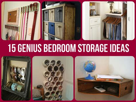 Small Bedroom Organization Ideas by 15 Genius Bedroom Storage Ideas