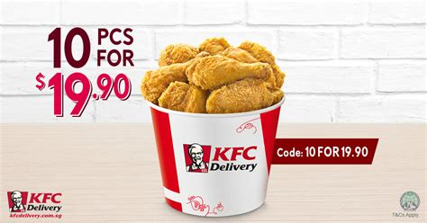 KFC 10pcs chicken for $19.90 promo code valid for delivery