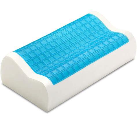 memory foam pharmedoc contour memory foam comfort cooling gel pillow