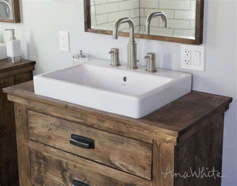 How To Make A Rustic Bathroom Vanity by Wood Reports Ways To Build With Wood