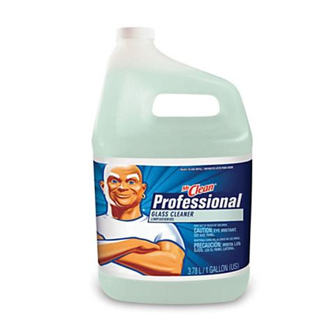 Mr Clean Bathroom Cleaner 7 Day Shine by Mr Clean Professional Glass Cleaner 128 Oz