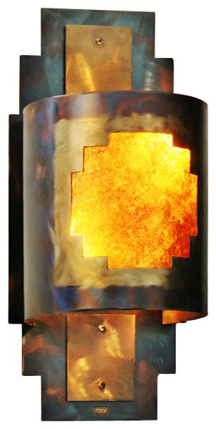 rustic wall sconce posada southwest indoor outdoor