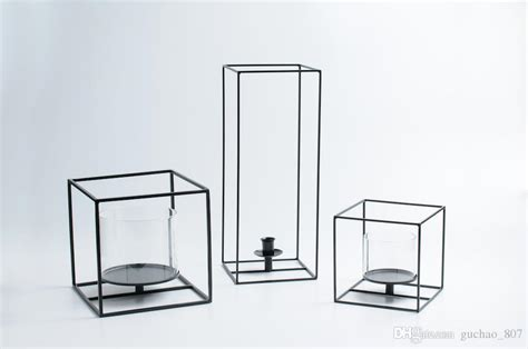 square candle holders simple design black cuboid square candle holder with