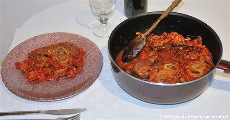 cuisiner le jarret de veau recette jarret de veau à la tomate sur recoin fr