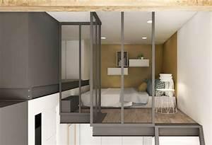 Aménagement Petit Appartement : amenager un studio de 15m2 14 amenagement cuisine ~ Nature-et-papiers.com Idées de Décoration