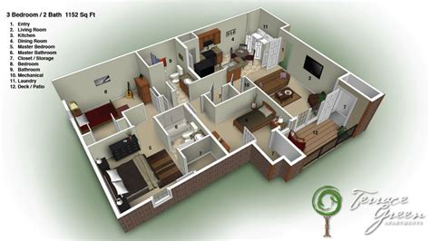 3 Bedroom 2 Bath House by 3 Story Apartment Building Plans House Floor Plans 3
