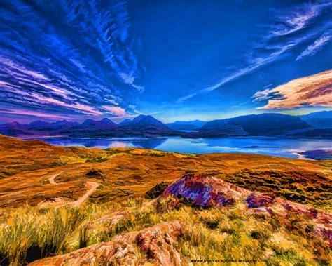 Loch Torridon And Mountains Beautiful Desktop Wallpaper